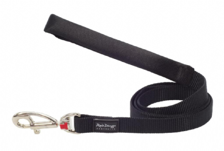 Red Dingo Dog Lead Classic Black
